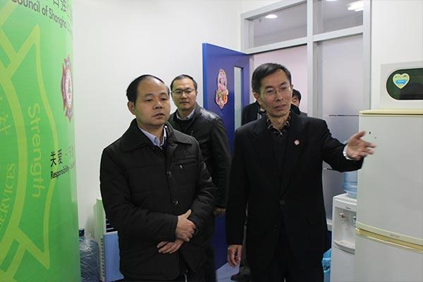 国家禁毒委督导组领导来总社视察并听取自强工作汇报
